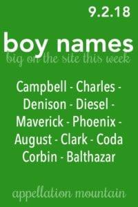 Boy Names 9.2.18