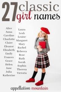 Classic Girl Names