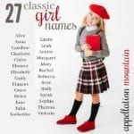 27 Classic Girl Names: Alice, Sophia, Ruth