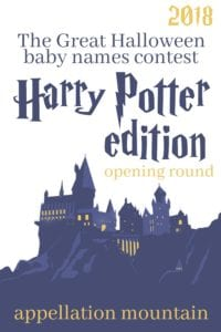 Halloween Baby Names Contest Opening Round 2018: Harry Potter