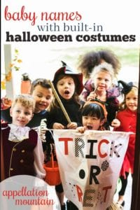 Baby Names inspired by Halloween costumes