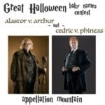 Great Halloween Baby Names Contest Wizards Round of Four