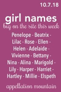 Girl Names 10.7.18