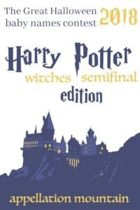 Harry Potter baby names witches semifinal