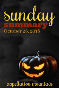 Sunday Summary 10.28.18