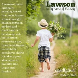 Lawson: Baby Name of the Day