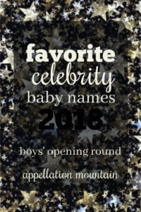Favorite Celebrity Baby Names 2018: Boys Opening Round