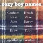 Cozy Boy Names
