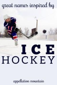 ice hockey baby names