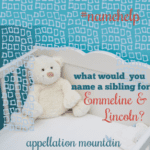 Name Help: A Sibling for Emmeline and Lincoln