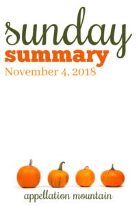 Sunday Summary: 11.4.18