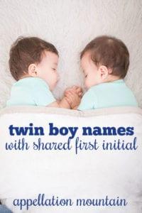 Twin Boy Names