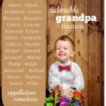 Adorable Grandpa Names for Boys: Reasons to Use Really Old School Boy Names
