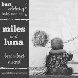 Celebrity Baby Names 2018: Best Sibset