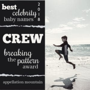 Celebrity Baby Names 2018: Breaking the Pattern Award