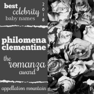 Celebrity Baby Names 2018: Philomena Clementine