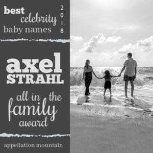 Celebrity Baby Names 2018: Axel Strahl