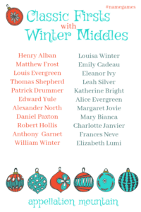 Classic Firsts with Winter Middles: Master List