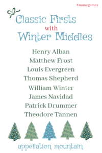 Classic Firsts with Winter Middles: Boys