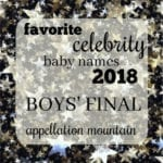 Favorite Celebrity Baby Names 2018: Boys Final