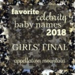 Favorite Celebrity Baby Names 2018: Girls Final