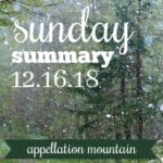 Sunday Summary: 12.16.18