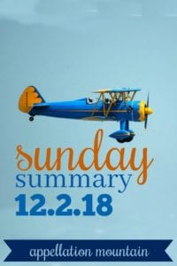 Sunday Summary: 12.2.18