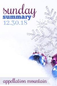 Sunday Summary: 12.30.18