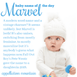 Marvel: Baby Name of the Day