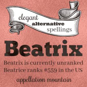 Elegant Alternative Spellings: Beatrix