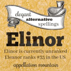 Elegant Alternative Spellings: Elinor