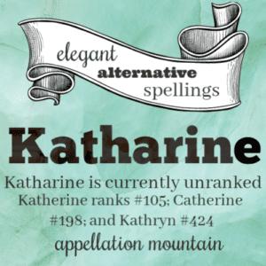 Elegant Alternative Spellings: Katharine