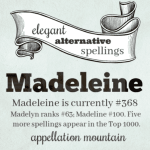 Elegant Alternative Spellings: Madeleine
