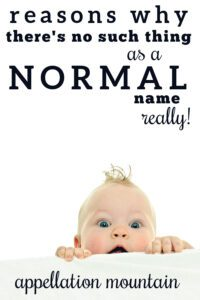 Myth of the Normal Name