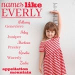 Names like Everly: 10 Great Alternatives