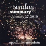 Sunday Summary: 1.27.19