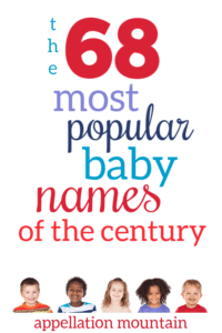 Most Popular Baby Names of the Century