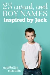 Casual Boy Names