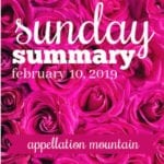 Sunday Summary: 2.10.19