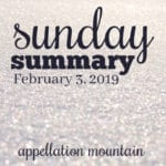 Sunday Summary: 2.3.19