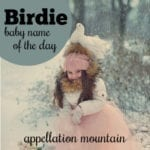 Birde: Baby Name of the Day
