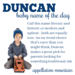 Duncan: Baby Name of the Day