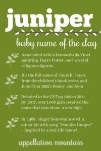 Juniper: Baby Name of the Day