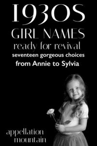 1930s Girl Names