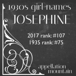 1930s Girl Names: Josephine