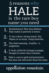 Hale: Baby Name of the Day