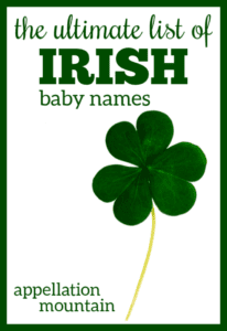 Irish Baby Names: The Ultimate List of Lists