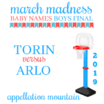 March Madness Baby Names 2019: Boys Final