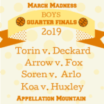 March Madness Baby Names 2019: Boys Quarter Finals