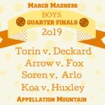 March Madness Baby Names 2019: Boys Quarter Finals